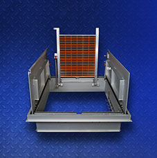 8) Halliday Products H2W Aluminum Channel Frame H20 Loading Floor Door/Hatch - Double Leaf